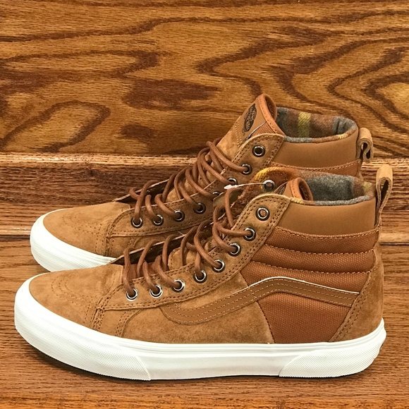 5fd129845fa33 Vans Sk8 Hi 46 MTE DX Glazed Ginger Flannel Shoes